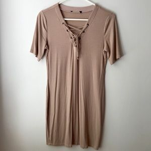 Forever 21 Nude Draw String Dress